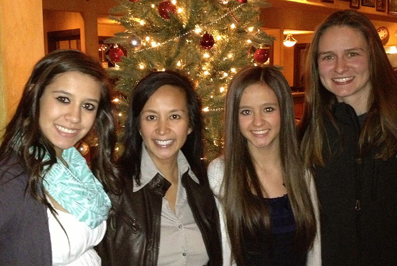 Sydney Raulinaitis, left, Alicia Raulinaitis, Kelsey Raulinaitis and Jen Oliver. Sydney struggled when Alicia, her mother, came out as a lesbian and became partners with Jen. (Photo courtesy of the Raulinaitis family)