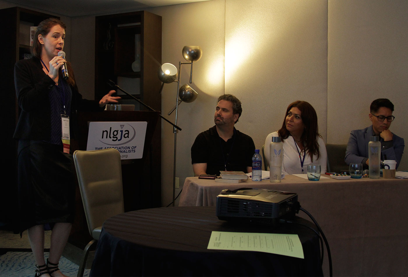 """A panel discussion on """"LGBTQ Sex Work in the News: Facts and Fairness, Not Sensationalism"""" at the Association of LGBTQ Journalists' annual national convention. (Photo by Siali Siaosi)"""