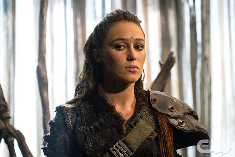 """The character Lexa from CW's """"The 100."""" (CW handout photo)"""